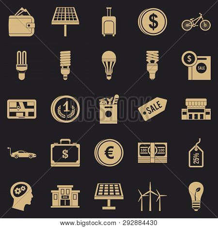 Monetary Relations Icons Set. Simple Set Of 25 Monetary Relations Vector Icons For Web For Any Desig