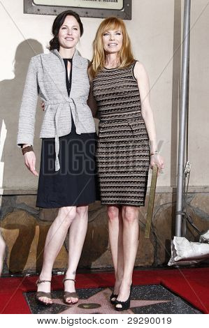 LOS ANGELES - JAN 23: Jorja Fox; Marg Helgenberger at a ceremony where Marg Helgenberger is honored with a star on the Hollywood Walk of Fame on January 23, 2012 in Los Angeles, California