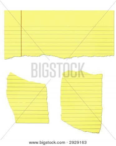 Yellow legal pad paper ripped isolated on white poster