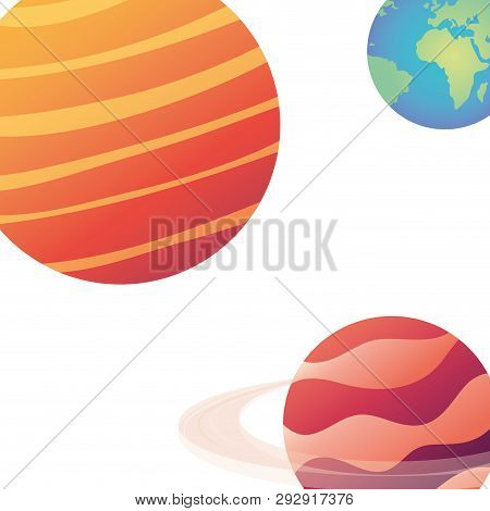 planet of the solar system isolated icon vector illustration design poster