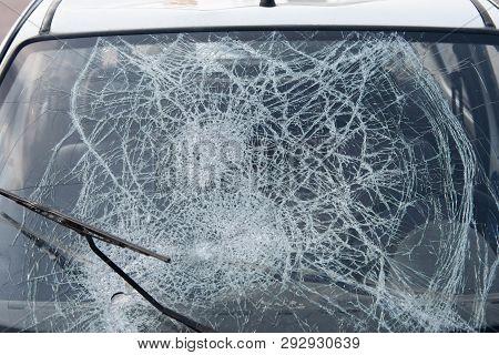 Car After An Accident, After A Pedestrian Hit