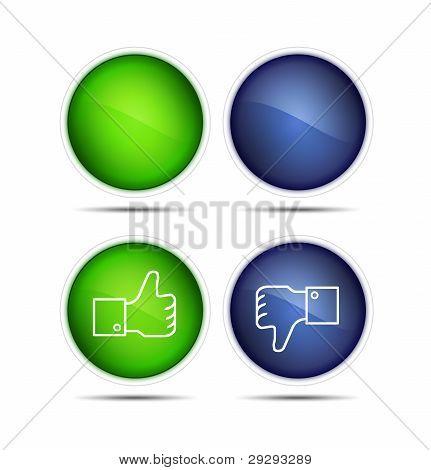 Thumb Up And Thumb Down Icons