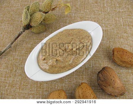 Fresh Dark Almond Mus In A Little Bowl