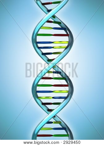 Conceptual Illustration Of A Dna Molecule