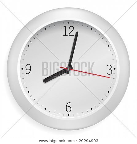 White vector clock. poster