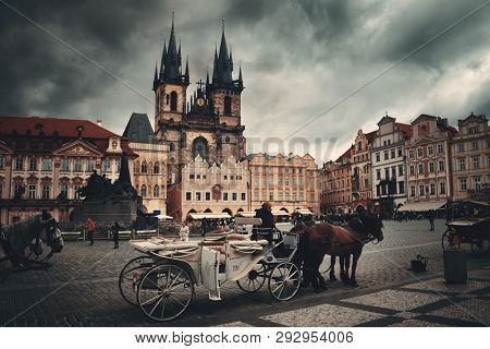 PRAGUE – OCT 8: Old Town Square Street view on October 8, 2016 in Prague, Czech Republic. Prague is the capital and largest city in Czech Republic with rich culture and history.