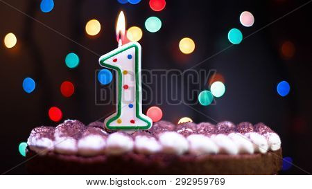 Happy Birthday.holiday Cake With Candles.birthday Greetings.greeting Card.colorful Birthday Candles.