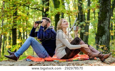 Park Date. Relaxing In Park Together. Happy Loving Couple Relaxing In Park Together. Couple In Love
