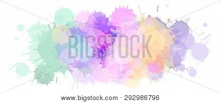 Watercolor Astract Background Or Aquarelle Blobs Texture