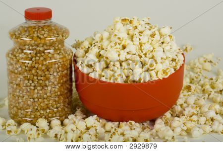Corn Seeds And Popcorn