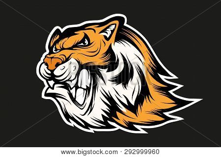 Bengal Tiger Sports Mascot Logo. Tiger Mascot. Angry Tiger Face. Vector Graphics To Design