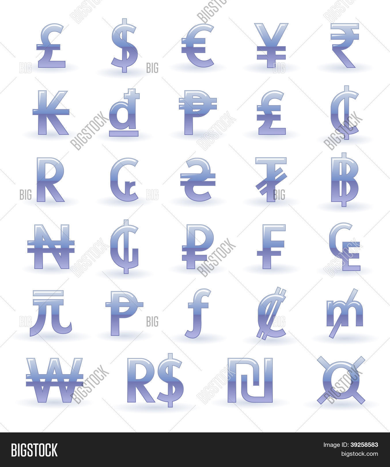 Currency Symbols Vector Photo Free Trial Bigstock