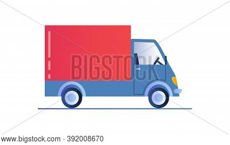 Delivery Truck Template Isolated On White Background. Truck Car Icon For Service, Branding And Adver