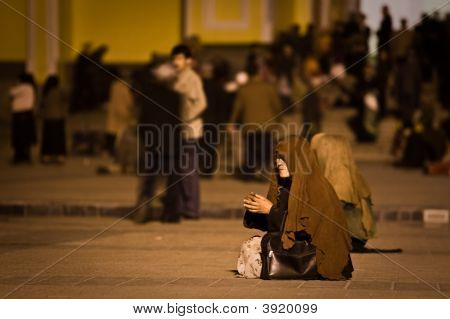 Begging Alms For The Poor