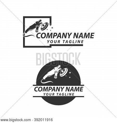Vector Logo With Design Elements Of Car Detailing Equipment. Can Be Used For Automotive Or Detailing