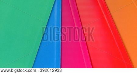 Multicolor Paper Fan Texture Background