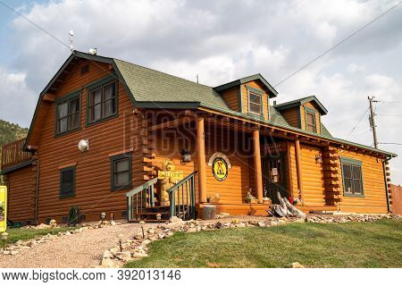 Cripple Creek, Colorado - September 16, 2020: The Koa General Store And Registration Building At The