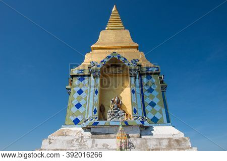 Buddhist Pagoda In Wat Chaloem Phra Kiat, One Of The Most Tourist Attraction Place In Lampang Provin