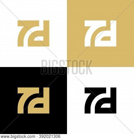 7d Or Td Monogram Logo Design Template Elements, Initial Letter Symbol - Vector