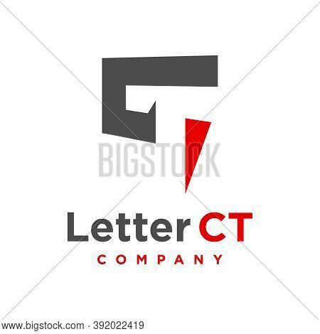 Ct Letter Logo Design Template Or Brand