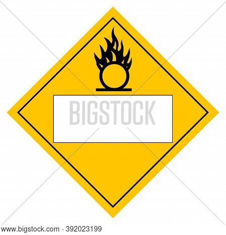 Blank Oxidizer Symbol Sign, Vector Illustration, Isolate On White Background, Label .eps10