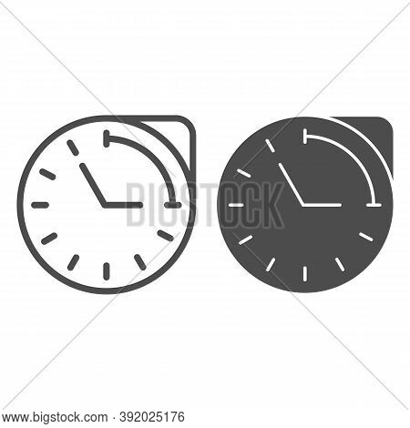 Clock With Hour Duration Line And Solid Icon, Medical Concept, Medication Time Schedule Sign On Whit