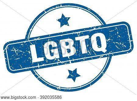 Lgbtq Stamp. Lgbtq Round Vintage Grunge Sign. Lgbtq
