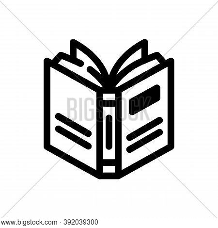 Open Book Icon Isolated On White Background From Literature Collection. Open Book Icon Trendy And Mo