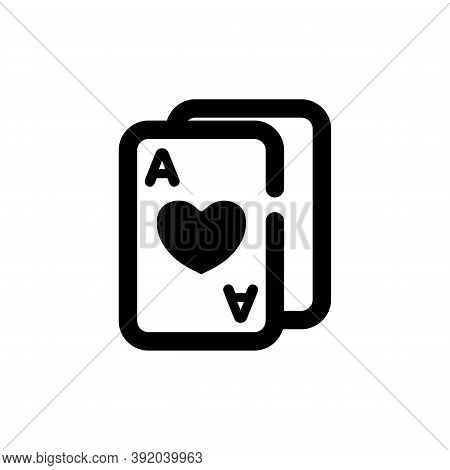 Poker Cards Icon Isolated On White Background From Magic Collection. Poker Cards Icon Trendy And Mod