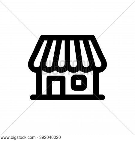 Store Icon Isolated On White Background From E Commerce Shopping Collection. Store Icon Trendy And M