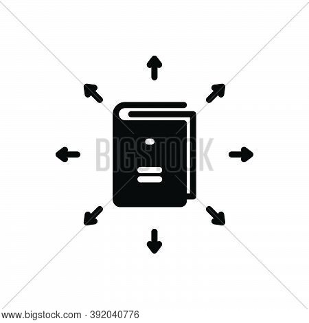 Black Solid Icon For Guideline Instruction Direction Advice Reference Testimony Book