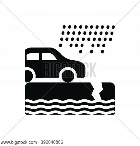 Black Solid Icon For Instance Example Paradigm Car Rain Event Incident Occurrence Case