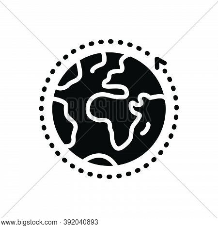 Black Solid Icon For Overall Entire World Global Communication Around Earth Ecology Comprehensive