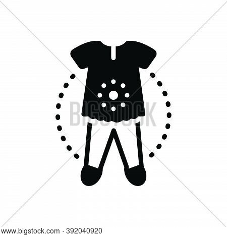Black Solid Icon For Overall Entire Clothes Dress Fashion Accessories