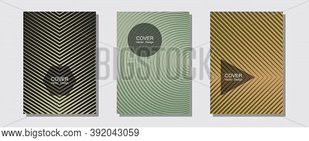 Abstract Shapes Of Multiple Lines Halftone Patterns. Minimalist Geometry. Halftone Lines Music Poste