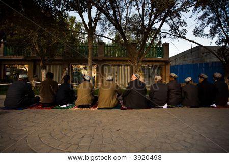 Muslim Men During Islamic Prayer