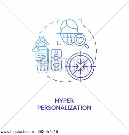Hyper Personalization Concept Icon. Innovational Futuristic Devices. Methods Of Identification. Ai I