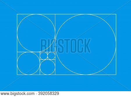 Golden Ratio Template, Golden Proportion Illustration - Vector