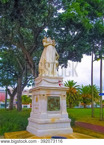 Fort-de-france, Martinique - February 08, 2013: The Decapitated Statue Of The Empress Josephine At F