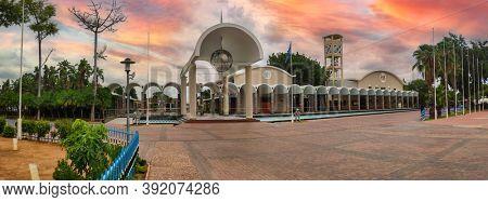 Botswana, Gaborone, 12.23.2019, landmarks of Botswana, house of the parliament in the capital Gaborone