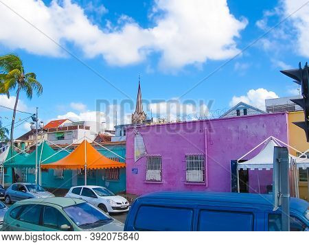 Fort-de-france, Martinique - February 08, 2013: The Street Life Of Fort-de-france City At Fort-de-fr
