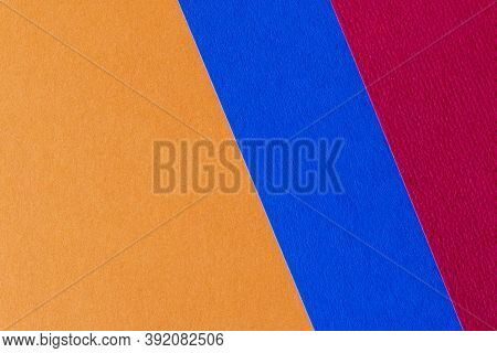 Trending Colors For 2020. Abstract Orange Blue Red Background. Abstract Geometric Background For The