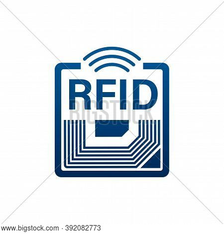 Rfid Radio Frequency Identification. Technology Concept. Digital Technology. Vector Stock Illustrati