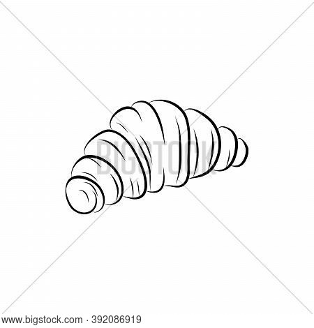 Croissant Doodle, A Hand Drawn Vector Doodle Illustration Of A Croissant