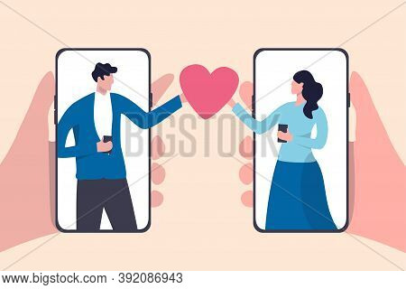 Online Dating Mobile Application, Using Digital Dating Service To Find Lover Or Relationship Concept