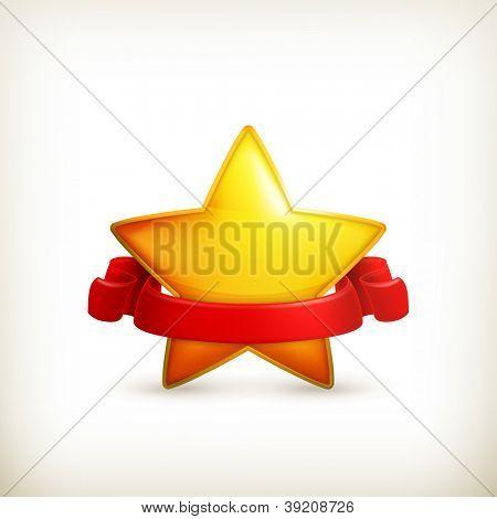 Star, award vector poster
