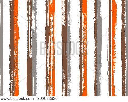 Watercolor Brush Stroke Parallel Lines Vector Seamless Pattern. Traditional Swimwear Marine Design.