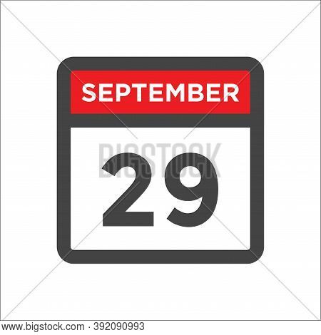September 29 Calendar Icon With Day & Month Sep 29