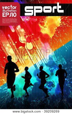 Sport poster. Runner