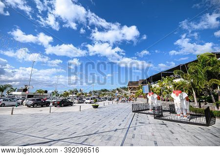 View Of Entrance To Siam Mall Shopping Center. 07.01.2020 Tenerife, Canary Islands.